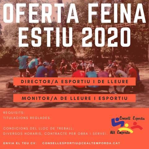 OFERTA DE FEINA ESTIU 2020