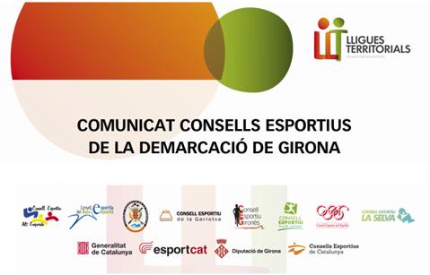 COMUNICAT CONSELLS ESPORTIUS DE GIRONA